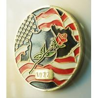 Wholesale Personalize American Flag Challenge Coins , Metal Military Commemorative Coins from china suppliers