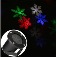 Wholesale outdoor moving white/colorful Lighting led snowflake projector show Landscape garden laser lighting from china suppliers
