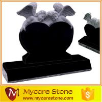Quality Shanxi black baby angle heart tombstone for sale
