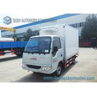 Wholesale Gasoline Engine 82 HP 4x2 Mini Refrigerated Box Truck Transport Ice Cream 1 T from china suppliers