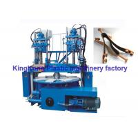 Wholesale Double Colors Vertical Injection Moulding Machine For PVC / TPR Upper / Strap from china suppliers