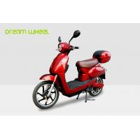 Quality 18 Inch Wheel Red Electric Bike Scooter Classic Vespa Style 48V 250W Brushless Motor for sale