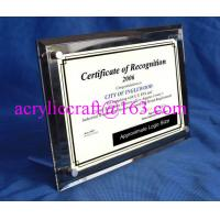 Wholesale Acrylic Table Top Menu / Photo / Picture Holder 4 X 6 With Set Screw from china suppliers