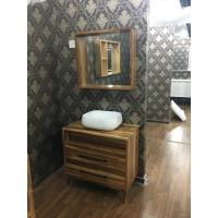 Wholesale Modern Wooden Square Sinks Bathroom Vanities With Ceramic Basin 80cm from china suppliers