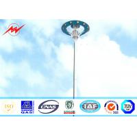 Wholesale 20M Height HPS Plaza High Mast Tower , Commercial Outdoor Light Poles from china suppliers