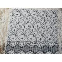 Wholesale Eyelash Corded Lace Fabric White Floral / Nylon Rayon Heavy Lace Material from china suppliers