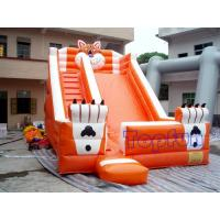 Wholesale Playground Funny Inflatable Water Slide , Outdoor Orange Inflatable Tiger Slide from china suppliers