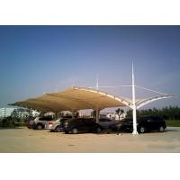 Wholesale Two Side Safety Car Park Shades , Cantilever Shade Structures Tensile Membrane from china suppliers