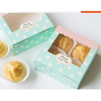 Wholesale Eco Friendly Paper Packaging Fast Food Rectangle / Square With Open Window from china suppliers