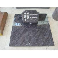 Wholesale European style flower carved red granite halloween headstone from china suppliers