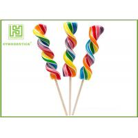 Wholesale Biodegradable Wooden Lollipop Sticks With Ball Hot Stamping Logo Printed from china suppliers