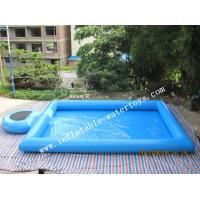 Wholesale Blue Step Inflatable Water Swimming Pools Above Ground Salt Water Pool from china suppliers