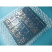 "Quality Matt Blue Double Sided PCB 0.8mm Thick 4u"" Routing and V - cut for Profile for sale"