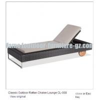 Classic outdoor rattan chaise lounge cl 008 of item 98219139 for Chaise lounge band