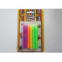 Wholesale Birthday Decorative Pillar Candles Assorted Fluorescent Colors 12 Count 3.03 IN Height from china suppliers