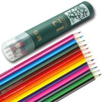 Wholesale Adult / Children Wooden Pencils Eco Friendly 12 Count With Vibrant Colored Printing from china suppliers
