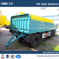 Wholesale tri-axle 20ft draw bar semi-trailer with dropping side boards from china suppliers