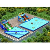 Wholesale 1.0mm PVC Metal Frame Inflatable Aqua Park , Inflatable Kiddie Pool With Slide from china suppliers