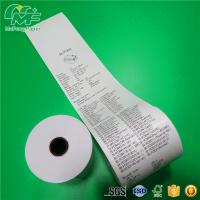 High Tightness 80mm Thermal Receipt Paper , Thermal Printer Rolls 100% Pure Wood Pulp