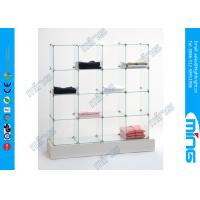 Wholesale Custom Tempered Glass Display Showcases , Cube 4x4 Display Free Showcase from china suppliers
