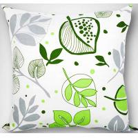 Wholesale Green leaves Custom Printed Pillows Water proof invisible zipper from china suppliers