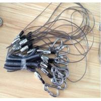 Wholesale Heavy duty carabiner good strong stainless steel wire flexi coil lanyard for tool cable from china suppliers