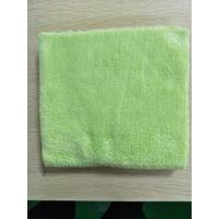 Wholesale 40*40cm Microfiber Green 600gsm Ultrasonic Trimming Coral Fleece Kitchen Towels from china suppliers