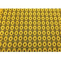 Wholesale Yellow Round Pattern Designer Nylon Lace Fabric For Fashion Apparel from china suppliers