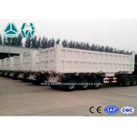 Wholesale 45 Ton 3 Axles Dump Tractor Trailer / Semi Dump Trailers Low Friction from china suppliers