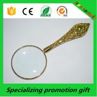 Wholesale Customized Promotional Stationery Metal Handheld Magnifier 5x from china suppliers