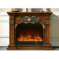 Wholesale Brown Antique Imitation Marble Fireplace For Hotel / Home / Club from china suppliers