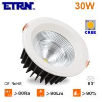 Wholesale ETRN Brand CREE COB LED 6 inch 30W LED Downlights Ceiling Lights Recessed lights from china suppliers