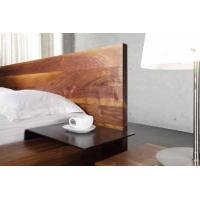Buy cheap Solid Aluminium Simple Walnut Bed Set Luxury Home Dark Walnut Bedroom Furniture from wholesalers