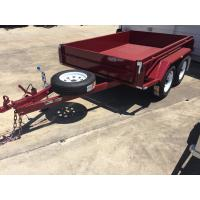 Wholesale Heavy Duty Industrial 10x5 Tandem Box Trailer 2000KG Wtih Rolled C / Plate Floor from china suppliers
