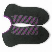 Wholesale Women's Socks, Made of 100% Cotton with 32s/1 x 3 + 30/75 Construction from china suppliers