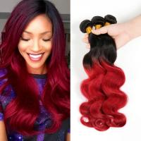 Wholesale Brazilian Virgin Hair Body Wave Ombre Human Hair Extensions1B Burgundy Red Two Tone Color Hair from china suppliers