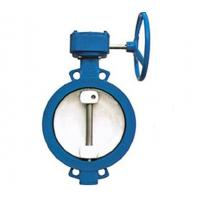 Wholesale WBGXD372X wsingle eccentric wormed wafer type soft seat butterfly valve 1200mm DN from china suppliers