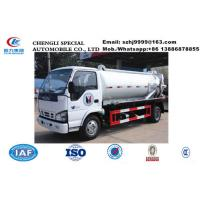 Wholesale Factory customized ISUZU LHD 5m3 vacuum tank truck for sale, HOT SALE! lowest price ISUZU sewer suction truck from china suppliers