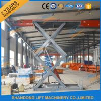 Quality CE 3T 4.5M Stationary Hydraulic Scissor Lift Table Scissor Lift Platform for Cargo Material for sale