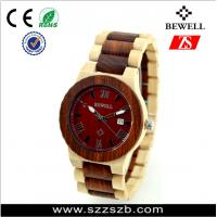 Wholesale Bewell Natural Bamboo Wrist Watch With Custom Logo Life Waterproof wood watch from china suppliers