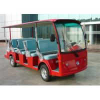 Quality Red Color Electric Sightseeing Car Shuttle Bus For 14 Persons CE Approved for sale