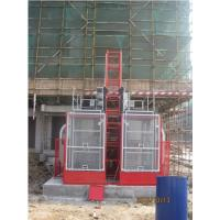 Wholesale Twin Cage Construction Lifts / Hoist Elevator High Speed for Building from china suppliers