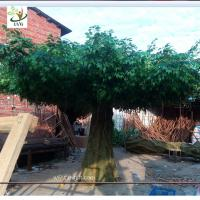 Wholesale UVG china home decor wholesale green banyan large artificial tree for play center landscaping GRE055 from china suppliers