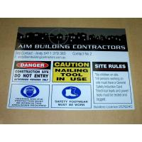 Wholesale Safety sign/UV printing sign/UV stable plastic sign/UV printing from china suppliers