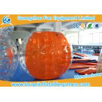 Wholesale CE Orange Half Color Inflatable Bubble Ball , Adults Inflatable Bumper Ball from china suppliers