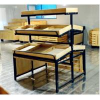 Wholesale 3 Tiers Collapsible Metal Fruit Wooden Display Rack For Retail Shop from china suppliers