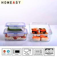 Wholesale Glass Food Storage Containers With Locking Lids from china suppliers