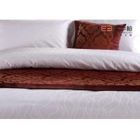 Quality Ripple Satin Design Hotel White Bed Linen 100 Cotton OEM / ODM Available for sale