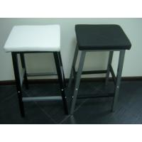 Wholesale Classic Modern Bar Chairs with Black and White PU and Matel Foot Tall Back Dining Chairs from china suppliers