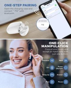 Wholesale IPX7 Waterproof Bluetooth 5.0 True Wireless Earbuds 35H Cyclic Playtime TWS Headphones with Charging Case and mic from china suppliers